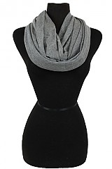 Plain Jersey Feel Softness Infinity Scarf