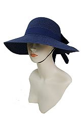 Visor Style Half Brim Up with Big Bow Design Sun Hat