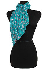 Cross Design Colorful Scarf