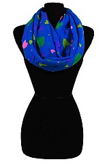 Colorful Heart Pattern Infinity Scarves