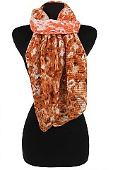 Plaid Soft Two Tone Tye Dye Scarves & Wraps