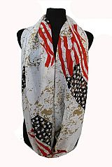 American Flag Design Chiffon Fabric feel Softness Infinity Scarf