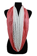 Paisley Lace and Solid Color infinity Scarves