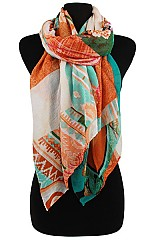 Multiple Pattern Scarves & Wraps