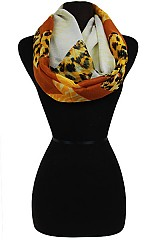 Animal Pattern Zig Zag Soft Infinity Scarves
