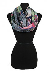 Pin Wheel Design Colorful Softness Infinity Scarf