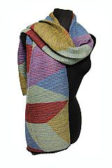 Colorful Block Checked Cashmere Feel Long and Wide Super Soft Shawls Scarf