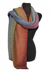 Extra Plush Softness Ripple Emboss Textured Multi Colored Scarves