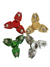 Three Tip silver Ball Bell Robotic Metal Fidget Toy Spinner