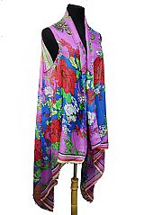 Flower Extra Soft Sleeveless Kimono Cardigan Fashion