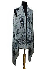 Mandala and Paisley Pattern Extra Soft Sleeveless Kimono Cardigan Fashion