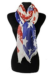 Vintage Style Original Color American Flag Cotton Scarf