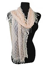 Ultimate Lace Floral Crochet Trimmed Spring Collection Softness Scarves