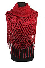 Soft Cashmere Feel Net-Knit Magic Scarf