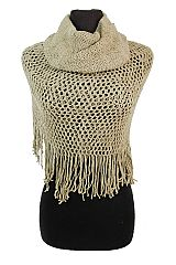 Soft Cashmere Feel Mesh Knit Magic Scarf