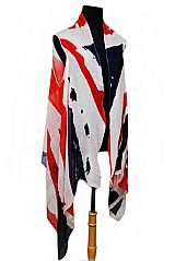 UK Printed Flag Sleeveless Cardigan Kimono Top