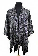 Thick Shimmer Glossy Shimmer Accented Poncho