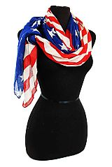 Patriotic Flag Original Color Design Scarves & Wrap