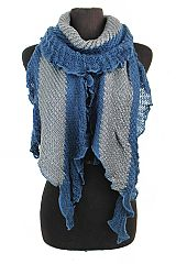 Ruffled Edge With Shimmer Accents softness double Tone Scarves