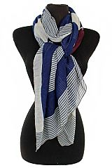 Striped Design Super Softness Scarf