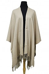 Plaid Pattern Cashmere Feel Super Soft Poncho