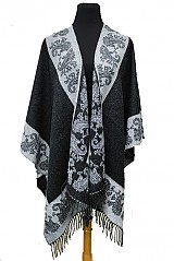 Paisley Pattern Accent Super Softness Poncho