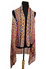 Missoni Colorful Printed Sheer Cooling Sleeveless Kimono