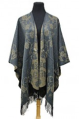 Floral Pattern Super Softness Poncho