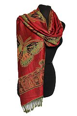 Butterfly  Design Pashmina Made With Double Sided Color Feature Silky smooth Texture