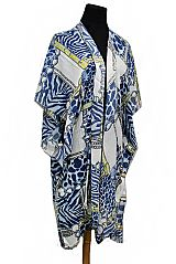 Animal print Design Over-Size Sleeves Cardigan Style Kimono