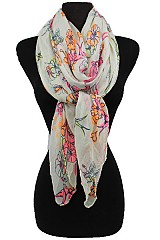 Happy Garden Pattern Scarves