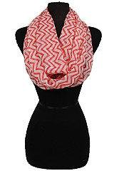 Chevron Design Infinity Scarves.