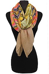 Color Full Stitched Chevron Pattern Scarves