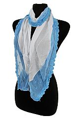 Plain Chiffon with softness Lace Accent Scarf