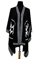 Tribal Pattern Loads Of Thickness Poncho