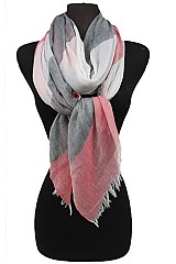 Three Color Soft Block Scarves