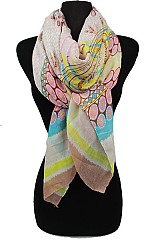 Color Full Daisy Flower Pattern Scarves
