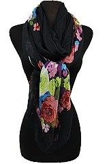 Soft Roses Pattern Scarves.