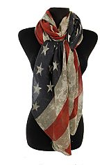 Vintage Tinted American Flag Oversized Scarf