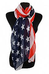 Classic Color Tone American Flag Oversized Scarf