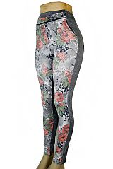Jean Like Fabric Stretchy Pocket Jegging Pant With Floral Spring Prints