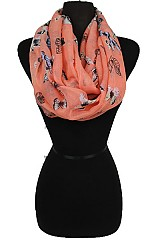 Soft Infinity Scarves with Butterfly Pattern