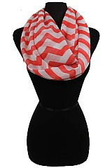 Big Chevron Pattern Infinity Scarves
