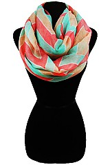 Big Chevron Softness Infinity Scarf.