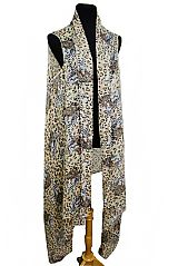 Wildlife Safari Leopard Print With Head Leopard Print Softness Kimono