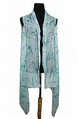 Ocean Sailor Ship Printed Softness Kimono Cardigan