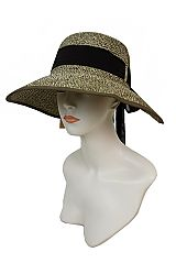 Wide Brimmed Visor Styled Bucket Lady Sun Hat