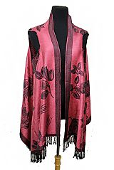 ROSE Flower Super Softness Silk Pashmina  Semi Sheer Sleeveless Vest Style