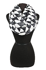 Diamond Pattern Softness Infinity scarf.