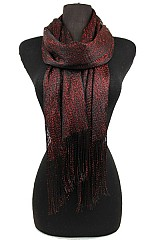Two Tone Metallic Accents Scarves and Shawls.